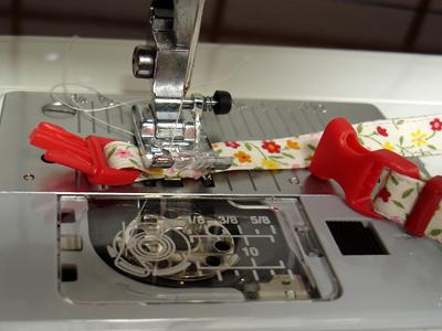 手作り首輪ミシン画像