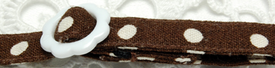 手作り首輪 ドット柄チョコ