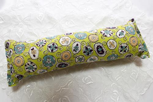手作りキッカー オモシロ花柄グリーン