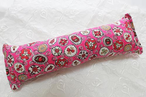 手作りキッカー オモシロ花柄ピンク