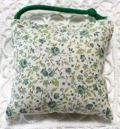 ミニミニキッカー(おざぶ) 小花柄グリーン