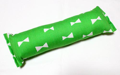 またたび入り手作りキッカー リボン柄グリーン