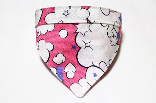 おしゃれバンダナ首輪 ポップバルーン柄ピンク