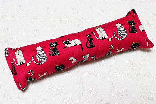 手作りキッカー 猫の恋ピンク1