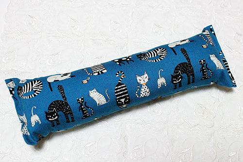 手作りキッカー 猫の恋ブルー1