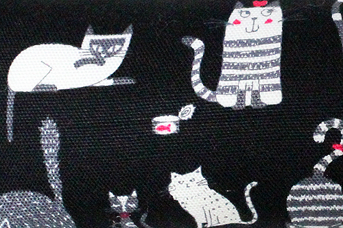 手作りキッカー 猫の恋ブラック2