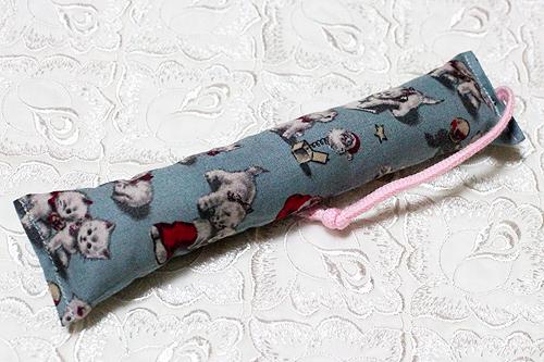 ミニミニキッカー(細長)クリスマス猫アンティークブルー