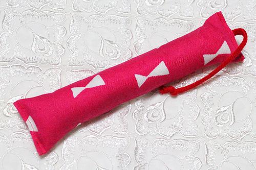 ミニミニキッカー(細長)リボン柄ピンク