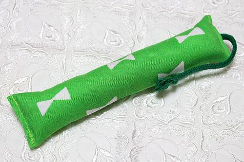 ミニミニキッカー(細長)リボン柄グリーン