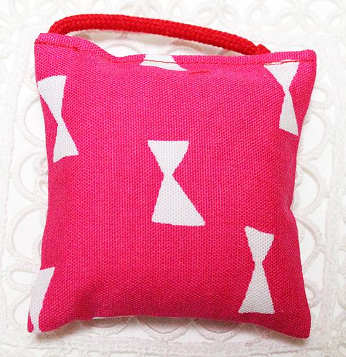 ミニミニキッカー(おざぶ)リボン柄ピンク