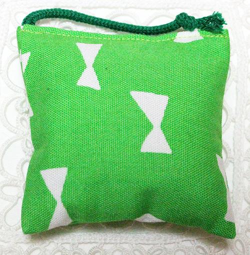 ミニミニキッカー(おざぶ)リボン柄グリーン