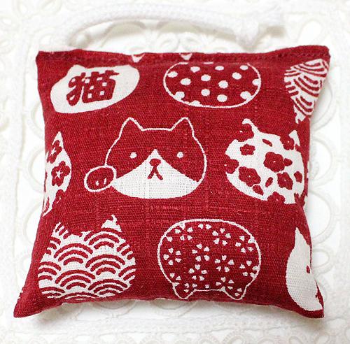 ミニミニキッカー(おざぶ)猫ねこ猫 赤