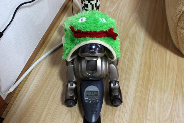 ヘビを着た犬型ロボット