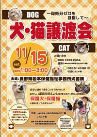犬・猫譲渡会ポスター