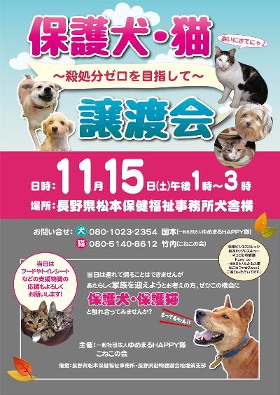 犬猫譲渡会ポスター画像