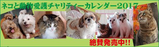 ネコと動物愛護チャリティーカレンダー2017発売中!