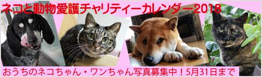 ネコと動物愛護チャリティーカレンダー2018