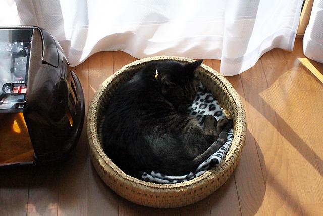 猫つぐら丸型なごみベッド