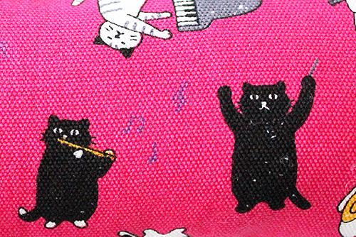 またたび入り手作りキッカー猫の演奏会レッド柄拡大