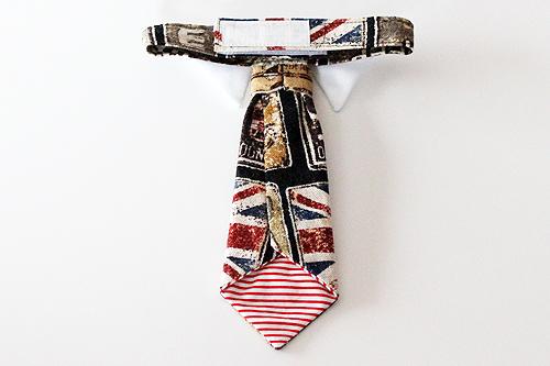 猫のおしゃれネクタイ アンティークイギリス国旗2