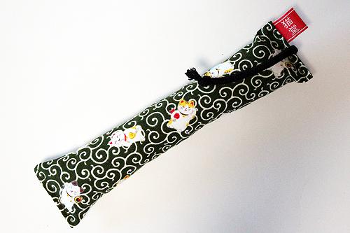 ミニミニキッカー(細長)唐草と招き猫緑