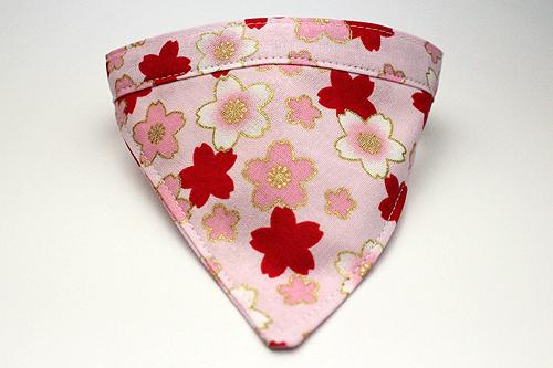猫用おしゃれバンダナ首輪 桜さくらピンク