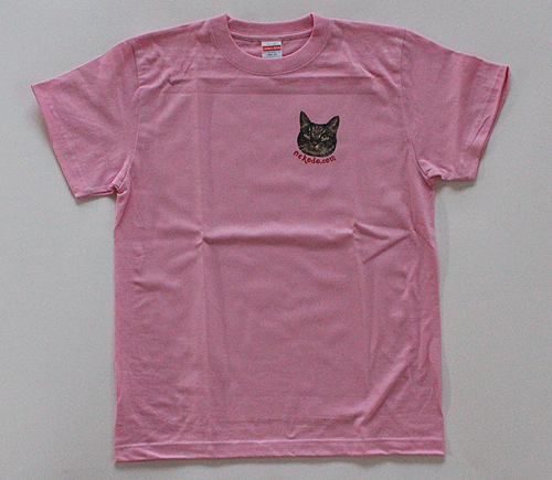 オリジナルTシャツちゃあ店長、ピンク