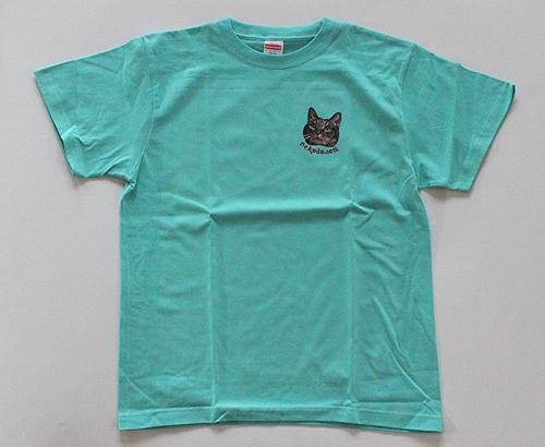 オリジナルTシャツちゃあ店長2020にっこりミントグリーン
