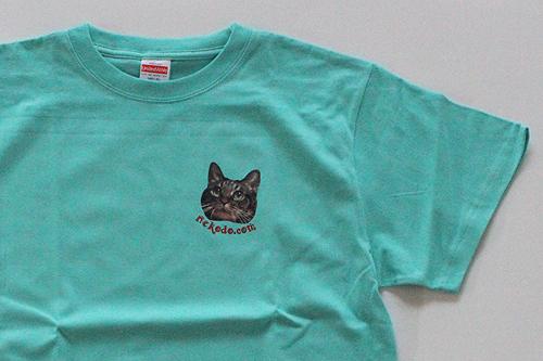 オリジナルTシャツちゃあ店長2020にっこり、ミントグリーン拡大