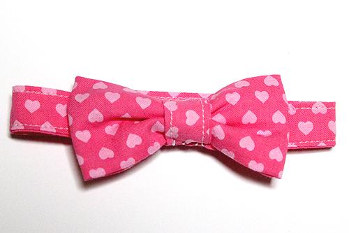 猫のおしゃれリボン、スイートハートピンクーピンク