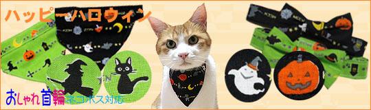 猫のおしゃれリボン&バンダナ首輪 ハッピーハロウィン新発売