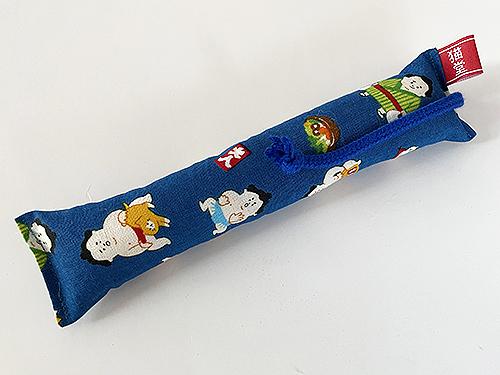 またたび入りミニミニキッカー(細長)猫とお相撲さん、ブルー