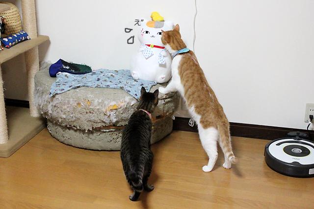ニャンコ先生にニャンコがチュウ(^_^)ε^ )