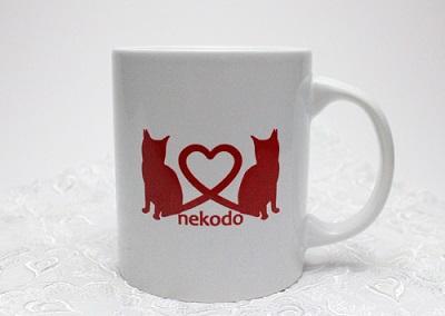 猫堂オリジナル、ロゴ入りマグカップ