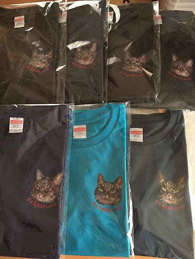 ネコと動物愛護・猫堂応援オリジナルTシャツ、ありがとうございます!